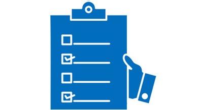 illustration of checklist: Sales process concept